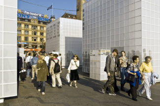 <p>GRID served as exhibition pavilions for INDEX 2005 in connection with the first major international design and innovation event held in Copenhagen. Five pavilions were set up on Copenhagen squares and open spaces, containing new designs based on the themes of body, home, work, play and communitiy. The GRID pavilions were a great contrast to the historic buildings. They were covered with opalescent or mirrored plexiglas reflecting the lights of the city in various ways, depending on whether is was night or day, rainy or sunny.</p> <p>An architectural element in an urban space.</p>