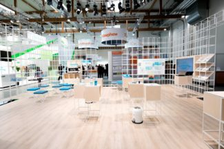 <p>Danish Coloplast develops, manufactures and markets medical devices and services. The brief for their EWMA 2018 expo booth was to create a coherent universe, a place for showcase, digital presentations and meeting hubs. The solution was a magnificent cubic installation – a room inside the room – with a simple and clear look, emphasizing Coloplast's brand identity. In collaboration with stand designer Annette Meyer special materials, finishes, digital screens and seat colours were added to the GRID system. Furthermore, GRIDs modular and flexible design enables it to be adaptable for future uses.</p> <p>Client: Coloplast<br /> Location: Krakow, Poland<br /> Stand designer: Annette Meyer<br /> Photos: © 2018.06. Coloplast A/S</p>
