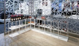 <p>Displays designed with focus on transparency and customised with open shelves and closed base. These units were used as displays for Amici Caffè's fair stand at Igeho (Internationale Fachmesse für Hotellerie, Gastronomie) and can also be utilised in retail, as shopfitting in stores and showrooms.</p> <p><em>Client:</em> Amici Caffè<br /> <em>Location:</em> Basel, Switzerland<br /> <em>Photos:</em> Amici Caffè</p>