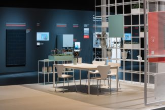 <p>The Viessmann Group is a leading international manufacturer of heating, industrial and refrigeration systems. In collaboration with Metron and GRIDstudio, the modular GRID system was selected as exhibition interior. For their phenomenal fair stand at ISH Frankfurt in 2019, open white display structures were designed into sideboards and into room dividers creating room-in-room spaces. These GRID displays were customised and fitted with plant boxes, TV boxes, signs, lockers and cross braces.</p> <p>Client: Viessmann Group<br /> Architect: Metron<br /> Concept, planning, design and realisation: Atelier Markgraph<br /> Photos: Kristof Lemp</p>